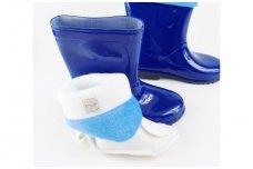 Šviesiai mėlyni su pašiltinimu botai
