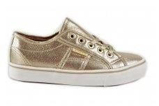 """""""Auksiniai"""" suvarstomi medžiaginiai Clibee laisvalaikio batai mergaitėms"""