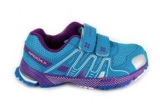 Mėlyni-violetiniai BADOXX sportiniai bateliai mergaitėms su lipdukais