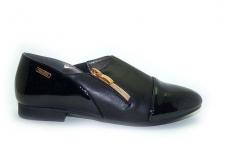 Juodi lakuotu priekiu laisvalaikio batai mergaitėms 2061