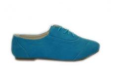 Mėlyni su raišteliais batukai mergaitėms
