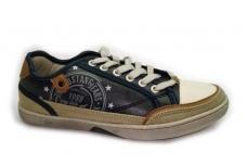 Mėlyni baltu priekiu su raišteliais laisvalaikio batai paaugliams