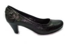 Juodi su sagtele ant kulno moteriški batai