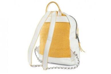 Balta-geltona Pawia moteriška kuprinė 0360 3