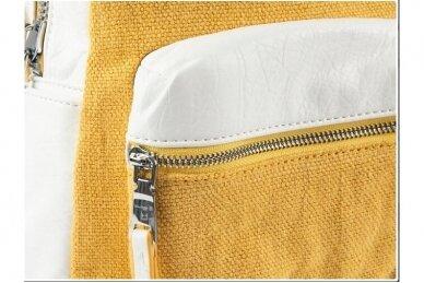 Balta-geltona Pawia moteriška kuprinė 0360 4