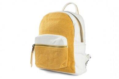 Balta-geltona Pawia moteriška kuprinė 0360 2