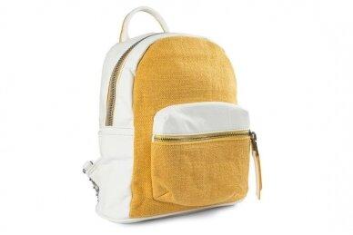 Balta-geltona Pawia moteriška kuprinė 0360
