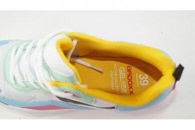 Balti-spalvoti suvarstomi Badoxx moteriški sportiniai bateliai 4