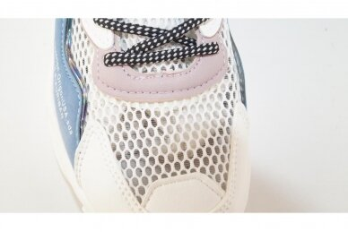 Balti suvarstyti gumyte užsegami lipuku Bessky sportiniai bateliai mergaitėms 8543 4