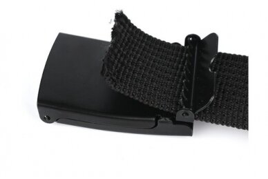 """Beltimore"" juodas ilgas tekstilinis diržas su balta sagtimi F79 4"