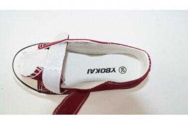 Bordo su lipdukais tekstiliniai sportiniai bateliai 0044 4