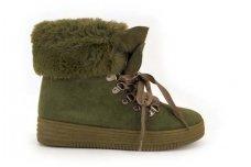 Guminiu padu samaniniai medžiaginiai suvarstomi su kailiuku žieminiai sportiniai moteriški batai su kailiu 1791