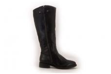 Juodi ilgi klasikiniai moteriški žieminiai batai su kailiu 2208