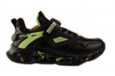 Juodi-salotiniai suvarstyti gunmyte užsegami lipduku Clibee sportiniai batai berniukams