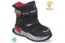 Juodi su lipdukais Tomm žieminiai batai berniukams su vilnos kailiu 9408