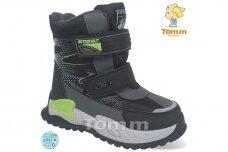 Juodi su lipdukais Tomm žieminiai batai berniukams su vilnos kailiu 9418