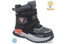 Juodi su lipdukais Tomm žieminiai batai berniukams su vilnos kailiu 9420