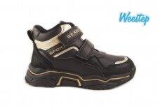 Juodi su lipukais Weestep sportiniai laisvalaikio batai mergaitėms 5511