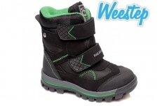 Juodi su lipukais Weestep termo batai berniukams su vilnos kailiu