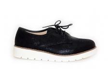 Juodi su raišteliais sportiniu padu moteriški batai