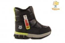 Juodi su užtrauktuku šone Tomm sportiniai sniego batai berniukams su vilnos kailiu 7703