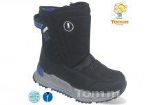 Juodi su užtrauktuku šone Tom.m žieminai batai berniukams su vilnos kailiu 9614