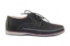 Juodi suvarstomi vyriški batai lygiu padu 1801j