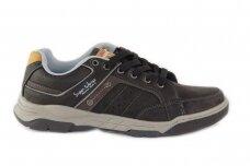Juodi suvarstomi vyriški laisvalaikio batai sportiniu padu 0451