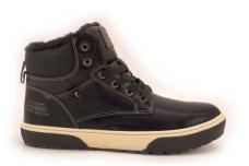 Juodi suvarstomi žieminiai batai paaugliams su kailiu 7300