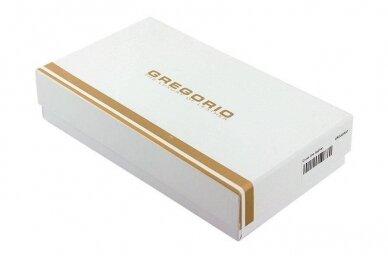 Juoda odinė GREGORIO moteriška piniginė N108 6