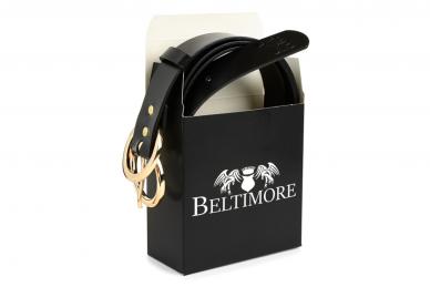 Juodas odinis 3cm pločio Beltimore moteriškas diržas su sagtimi D50 4