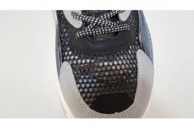 Juodi-mėlyni baltu padu suvarstyti gumyte užsegami lipuku Bessky sportiniai bateliai berniukams 8545 4