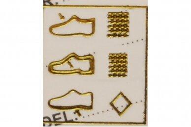 Juodi su lipdukais juodu padu tekstiliniai sportiniai bateliai 0044 6