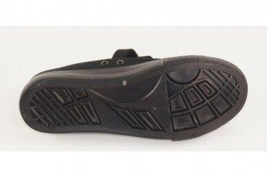 Juodi su lipdukais juodu padu tekstiliniai sportiniai bateliai 0044 5