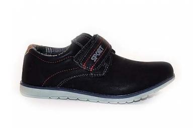 Juodi su lipdukais sportiniu padu BADOXX laisvalaikio batai berniukams