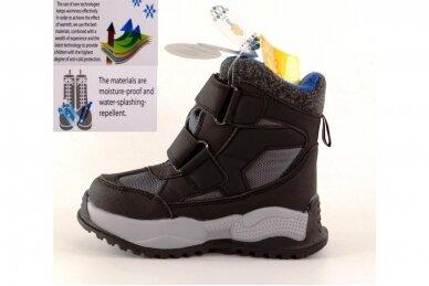 Juodi su lipdukais Tomm žieminiai batai berniukams su vilnos kailiu 9414 3