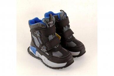 Juodi su lipdukais Tomm žieminiai batai berniukams su vilnos kailiu 9414 4