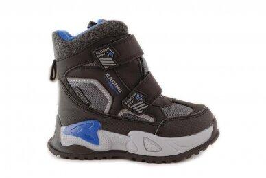 Juodi su lipdukais Tomm žieminiai batai berniukams su vilnos kailiu 9414 2