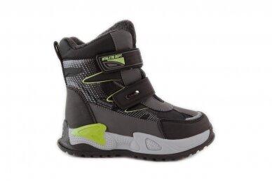 Juodi su lipdukais Tomm žieminiai batai berniukams su vilnos kailiu 9418 2