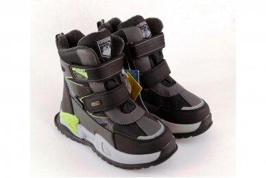 Juodi su lipdukais Tomm žieminiai batai berniukams su vilnos kailiu 9418 4
