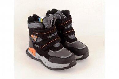 Juodi su lipdukais Tomm žieminiai batai berniukams su vilnos kailiu 9420 4