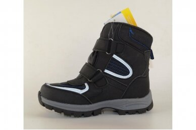 Juodi su lipdukais žieminiai sportiniai Tom.m sniego batai berniukams su vilnos kailiu 3673 2