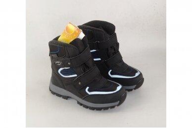 Juodi su lipdukais žieminiai sportiniai Tom.m sniego batai berniukams su vilnos kailiu 3673 3