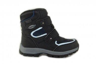 Juodi su lipdukais žieminiai sportiniai Tom.m sniego batai berniukams su vilnos kailiu 3673
