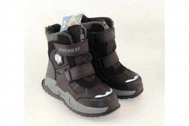 Juodi su lipukais Tom.m žieminai batai berniukams su vilnos kailiu 9619 4