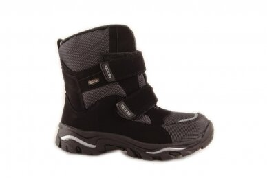 Juodi su lipukais Weestep termo batai berniukams su vilnos kailiu 8282