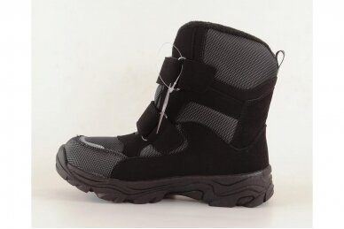 Juodi su lipukais Weestep termo batai berniukams su vilnos kailiu 8282 2