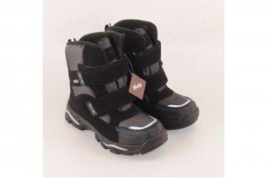 Juodi su lipukais Weestep termo batai berniukams su vilnos kailiu 8282 3