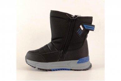 Juodi su užtrauktuku šone Tom.m žieminai batai berniukams su vilnos kailiu 9614 3