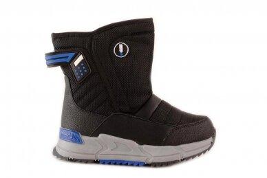 Juodi su užtrauktuku šone Tom.m žieminai batai berniukams su vilnos kailiu 9614 2